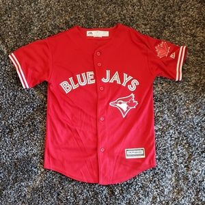 Blue Jays Red Jersey Youth Medium (~ Womens XS)